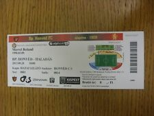 28/09/2013 Ticket: Budapest Honved v Haladas (folded). Any faults with this item