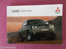 MITSUBISHI L200 OWNERS MANUAL - OWNERS GUIDE - OWNERS HANDBOOK  (MIT 178)