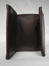 Nouvelle COLLECTION RALPH LAUREN RRL marron foncé trois volets portefeuille cuir rrp £ 195