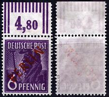 Berlin 22 **, Oberrand, 6 Pf. Rotaufdruck, gepr. Schlegel BPP