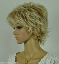 New Dark Blonde Mixed Short Curly  women Full Wig