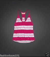 NWT HOLLISTER WOMENS PINK & WHITE STRIPE SEA GROVE CAMI TOP BLOUSE SIZE S