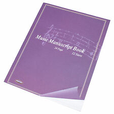 5 x A4 24 Page Music Manuscript Sheet Note Books Blank 12 Stave Notation Paper
