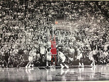 MICHAEL JORDAN LAST SHOT VS JAZZ BASKETBALL PLAYER ICONIC MJ NBA ATHLETE SPORTS!