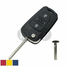 Replace Flip Key Shell fit for HYUNDAI Accent Remote Case Fob Uncut 3 BTN S150A
