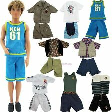 Random 3 Set Casual / Sport Men's Outfit Jacket + Pants Clothes For Ken Doll Toy