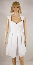 Jessica Simpson Size 10 White Criss Cross Belted Cap Sleeve Cutout Dress NEW $98