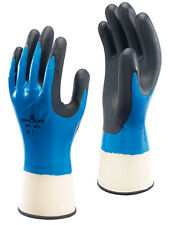1 Pair Of SHOWA 377 Fully Coated Nitrile Foam Grip Gloves Wet & Oily Size 7/M