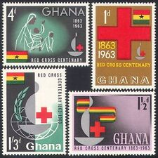 Ghana 1963 Red Cross/Medical/Health/Nurse 4v set n27402