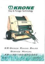KRONE ROUND BALER KR130 KR160 KR230 KR260 WORKSHOP SERVICE MANUAL