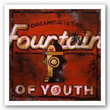 ADVERTISING ART PRINT Dreaming is the Fountain of Youth Rodney White