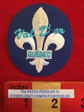 CANADA PATCH - VAL D'OR QUEBEC - Fleur-de-lis Flower Lily ~ Borderless 59FF ex