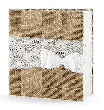 Gästebuch Hochzeit Hochzeitsgästebuch mit Jutestoff Hochzeitsalbum Fotoalbum