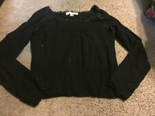 Nice women's size L Large Belford for Saks Fifth Avenue Cashmere black sweater