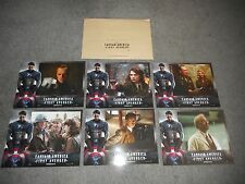 CAPTAIN AMERICA - FIRST AVENGER - 6 ORIGINAL FRENCH LOBBY CARDS - ATWELL/EVANS