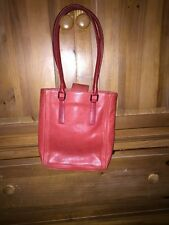 Coach Authentic Vintage Red Leather Shopper Tote