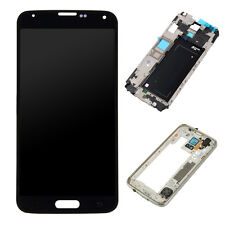 For Samsung Galaxy S5 G900A LCD Screen Display Touch Digitizer+Frame Replacement