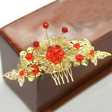 2PCS Chinese Classical Women Hairpin Hair Comb Alloy Bride Accessories