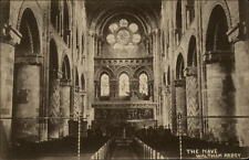 Waltham Abbey England postcard ~1920/30 Church the Mave Inneres der Kirche Altar