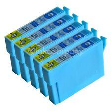 5 kompatible Tintenpatronen blau für den Drucker Epson SX130 S22  SX230