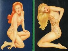 Varga Girl Pinup Art Redhead & Blonde Swimsuits Vintage 1943 Swap Playing Cards!