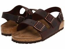 Birkenstock Men's Milano 034871 Habana Leather Sandals Retail $125 size 8