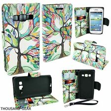 For Samsung Galaxy Core Prime Prevail LTE G360P Wallet Pouch Case Rainbow Tree