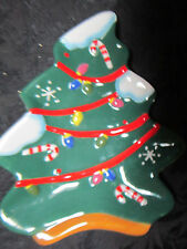 Decoration Christmas Tree Holiday Ceramic Winter Embossed Candy Dish Horderves