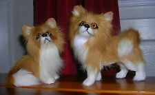 Realistic Lifelike 2 Dogs Rabbit/Goat Fur Animal DB1406T