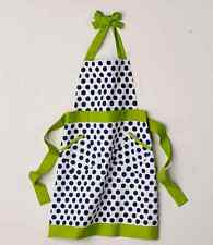 Green Cooking Apron Kitchen Restaurant Front Double Pocket Aprons Women Bib Lace