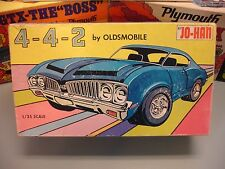JOHAN 1970 OLDS CUTLASS 4-4-2 CARTOON BOX 3n1 C-1670:200 70 1/25 AMT UNBUILT KIT