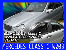 DME23267 Mercedes C Class W203 4 door 2000-07 wind deflectors 4pcs  HEKO TINTED