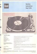 Dual Service Manual für 1015