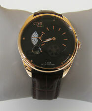 Egard Men's CVL-VNT-ROS 'Vantage' Automatic Brown Leather Watch
