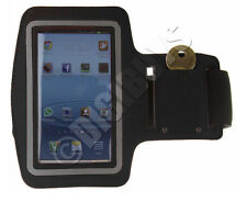 Black A-Sports Adjustable ARMBAND key holder for Galaxy S3 i9300 Gym Case Pouch
