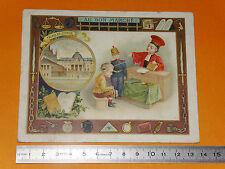 CHROMO 1890 - 1910 AU BON MARCHE BOUCICAULT PARIS PALAIS DE JUSTICE