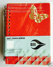 "Miro Spiral-Bound FIELD BOOK/NOTE PAD 4""X5.75"" RED Vinyl Covers/Perforated Pages"