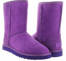 UGG Australia Classic Short Crazy Plum Purple Suede Boots US 7 LAST PAIR New