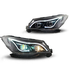 Aftermarket HID Bi Xenon Projector Headlights Assembly w DRL for Subaru Forester