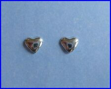 Pair Of Sterling Silver  925  Solid Heart  Ear Studs  !!     Brand  New  !!