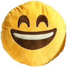 New EMOJI EMOTICON Pillow Plush SMILEY BIG SMILE FACE Fun Yellow Dorm Toy gift