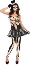 WOMENS SEXY MEXICOS DAY OF THE DEAD SKELETON FESTIVAL COSTUME FM70730