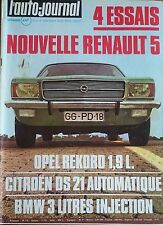 L'AUTO JOURNAL 1972 2 CITROEN DS21 IE BMW 3.0 Si OPEL REKORD 1000KM BUENOS AIRES