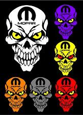 MOPAR Skull decals stickers Dodge Charger Challanger Ram Muscle Hemi car Truck