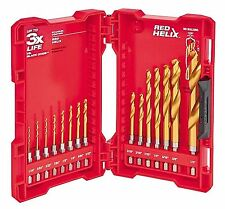 Milwaukee Titanium Coated Heavy Impact Duty Shockwave Drill Bit Kit Set 15-Piece