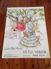 "Louisa May Alcott""s LITTLE WOMEN Paper Dolls"" by Artist Janet Nason. 1981"