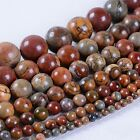 """Natural multi-color picasso jasper gemstone round loose beads 16"""" *4mm to 20mm*"""
