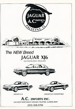 1988 Jaguar XJ6 XJS Dealer Classic Advertisement Ad P75