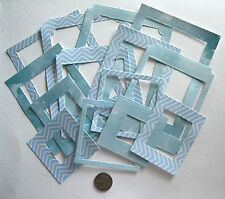 SCRAPBOOKING NO 401 - 14 DIE CUT LIGHT WEIGHT CARD PHOTO FRAMES - MIXED SIZES