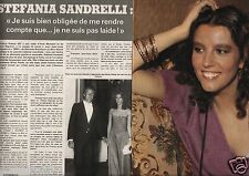 Coupure de presse Clipping 1976 Stephania Sandrelli   (4 pages)
